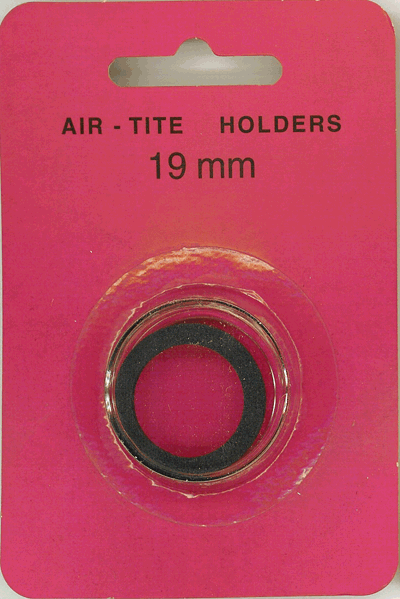 Air-Tite 19 mm Ring Fit Coin Capsule - Black