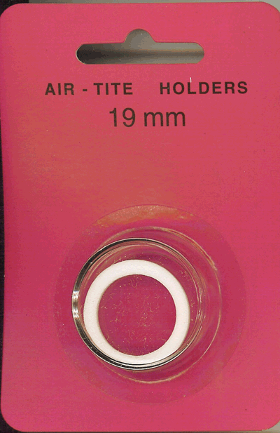 Air-Tite 19 mm Ring Fit Coin Capsule - White