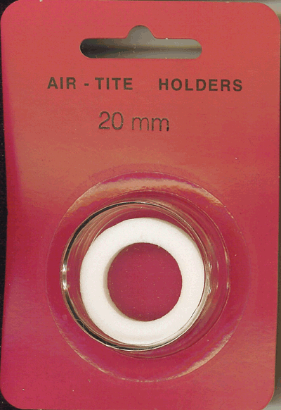 Air-Tite 20 mm Ring Fit Coin Capsule - White