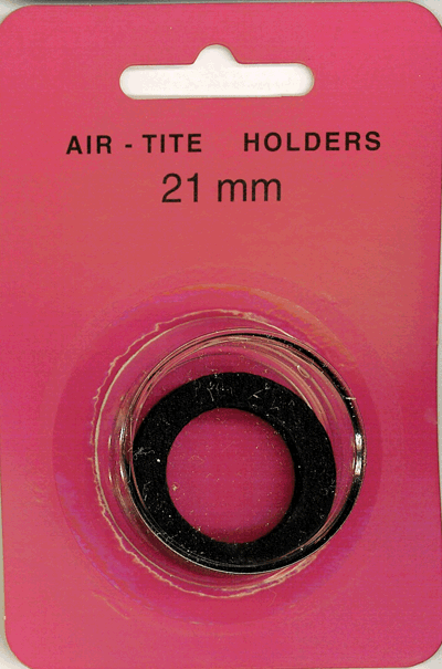 Air-Tite 21 mm Ring Fit Coin Capsule - Black