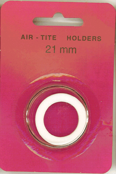 Air-Tite 21 mm Ring Fit Coin Capsule - White