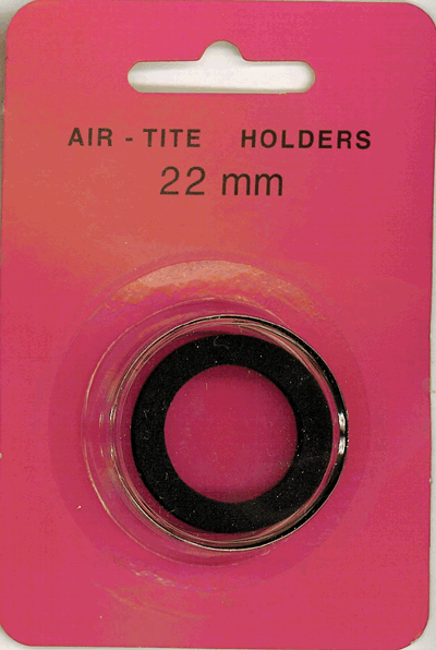 Air-Tite 22 mm Ring Fit Coin Capsule - Black