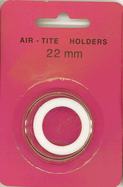 22mm Ring Fit Air Tite Coin Capsule - White 22mm Ring Fit Air Tite Coin Capsule White, Air Tite, Model T