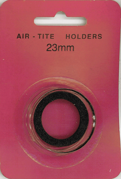 Air-Tite 23 mm Ring Fit Coin Capsule - Black