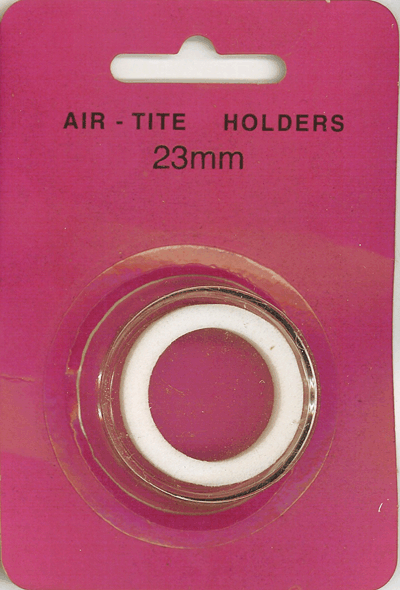 Air-Tite 23 mm Ring Fit Coin Capsule - White