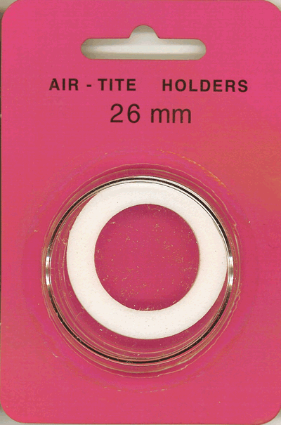 26mm Ring Fit Air Tite Coin Capsule - White 26mm Ring Fit Air Tite Coin Capsule White, Air Tite, Model H