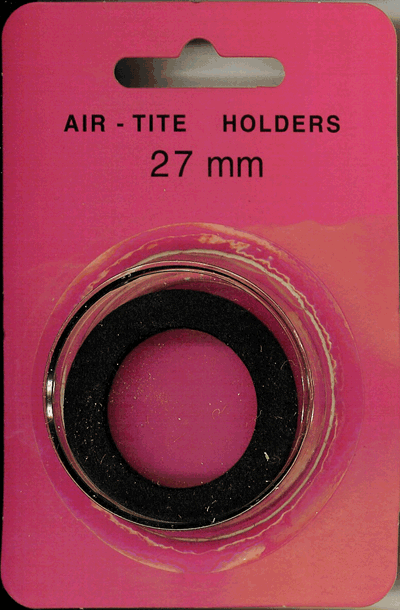 27mm Ring Fit Air Tite Coin Capsule - Black 27mm Ring Fit Air Tite Coin Capsule Black, Air Tite, Model H