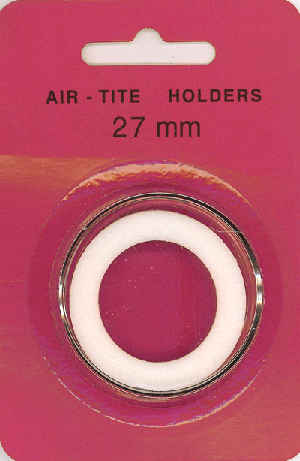 27mm Ring Fit Air Tite Coin Capsule - White 27mm Ring Fit Air Tite Coin Capsule White, Air Tite, Model H