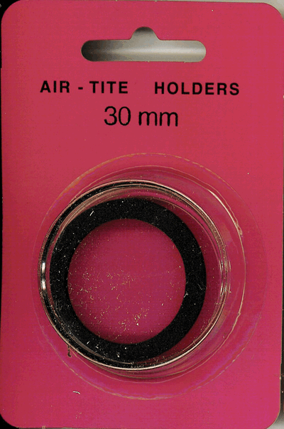 Air-Tite 30 mm Ring Fit Coin Capsule - Black