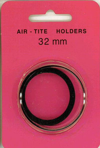 Air-Tite 32 mm Ring Fit Coin Capsule - Black