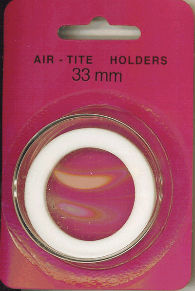 33mm Ring Fit Air Tite Coin Capsule - White 33mm Ring Fit Air Tite Coin Capsule White, Air Tite, Model I