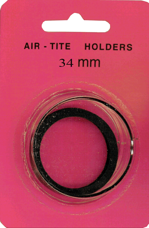 Air-Tite 34 mm Black Ring Coin Capsule