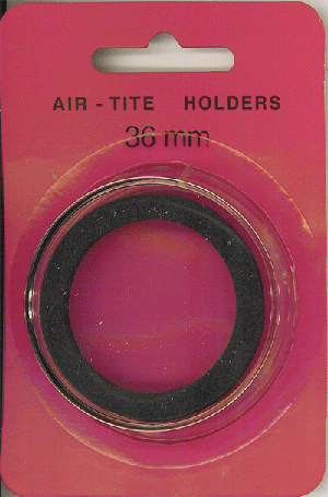 36mm Ring Fit Air Tite Coin Capsule - Black 36mm Ring Fit Air Tite Coin Capsule Black, Air Tite, Model I