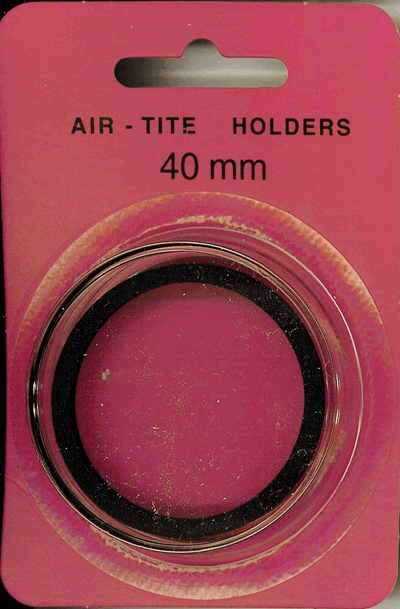 40mm Ring Fit Air Tite Coin Capsule - Black 40mm Ring Fit Air Tite Coin Capsule Black, Air Tite, Model I