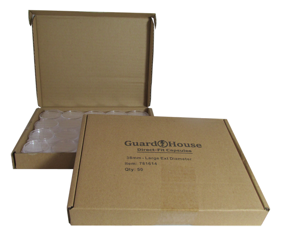 Guardhouse Large Dollar Coin Capsules - 50 PK