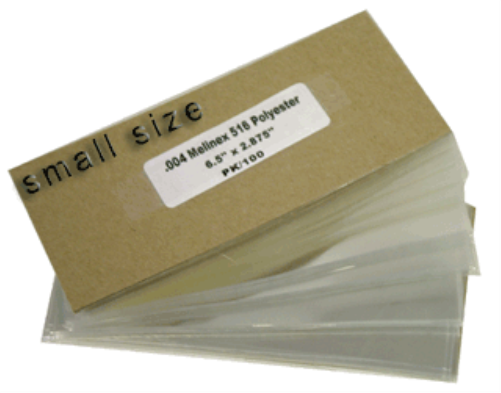 Melinex Museum Quality Modern Note Currency Holders - 100 pack 6 1/2x3