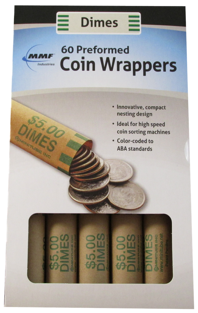 60 Dime Preformed Coin Wrappers 60, Dime, Preformed Coin Wrappers, 2160631C02