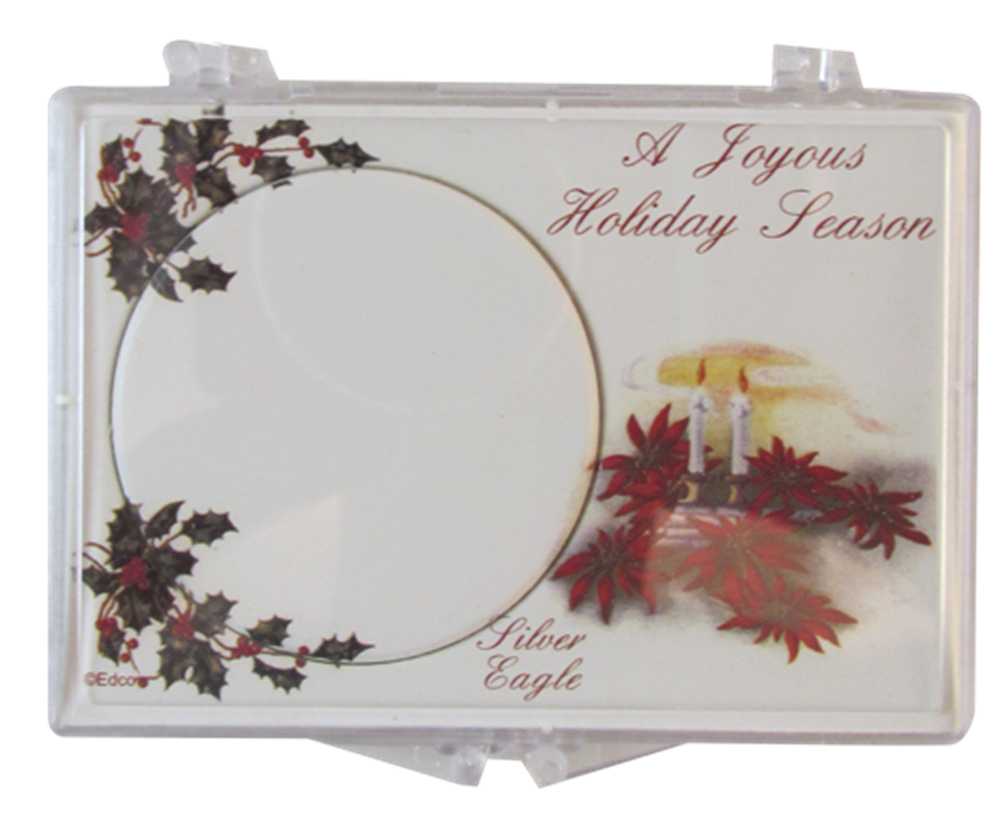 American Silver Eagle Christmas Star Gift Case ASE, Christmas Candles, SN272