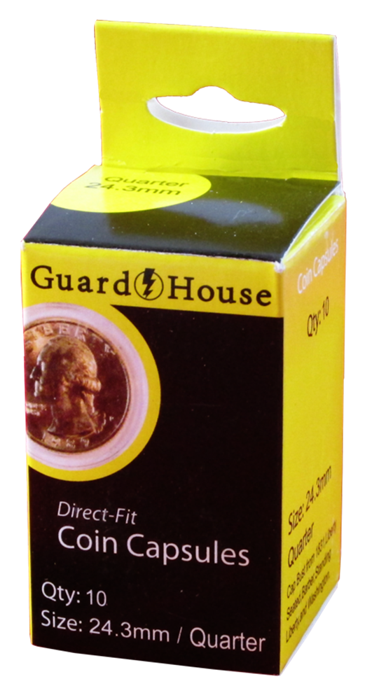 Guardhouse Quarter Coin Capsules - 10 Pack
