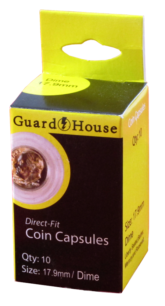 Dime Direct-Fit Coin Capsules - 10 Pack