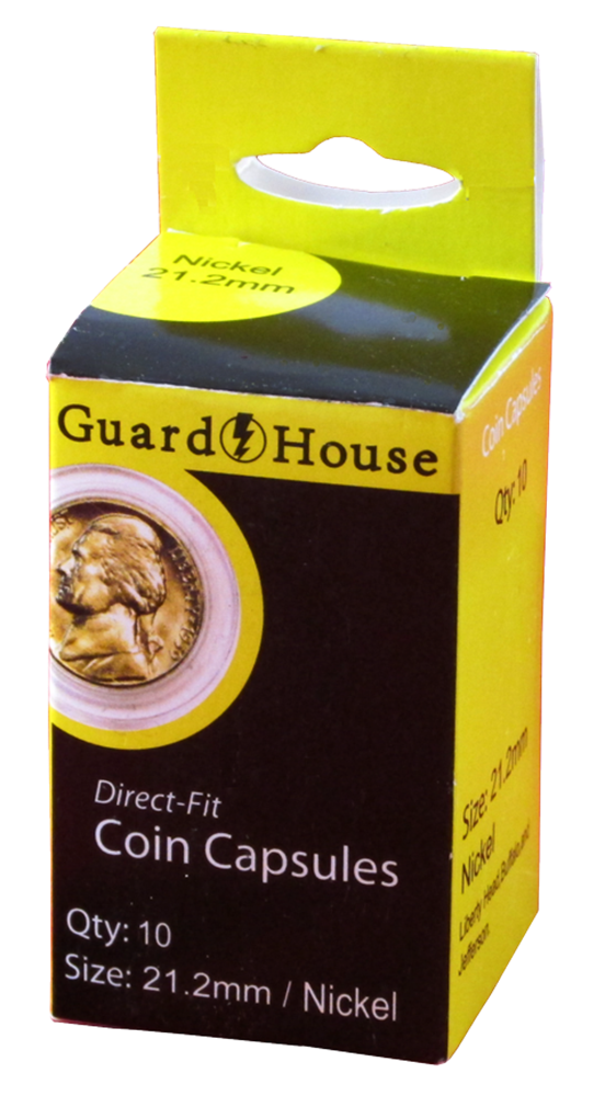 Guardhouse Nickel Coin Capsules - 10 Pack