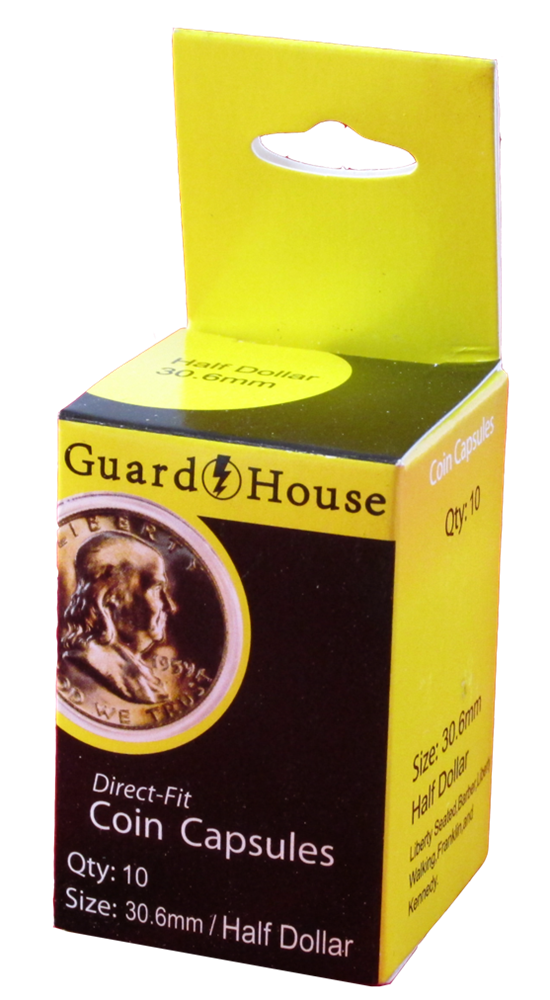 Guardhouse Half Dollar Coin Capsules - 10 Pack