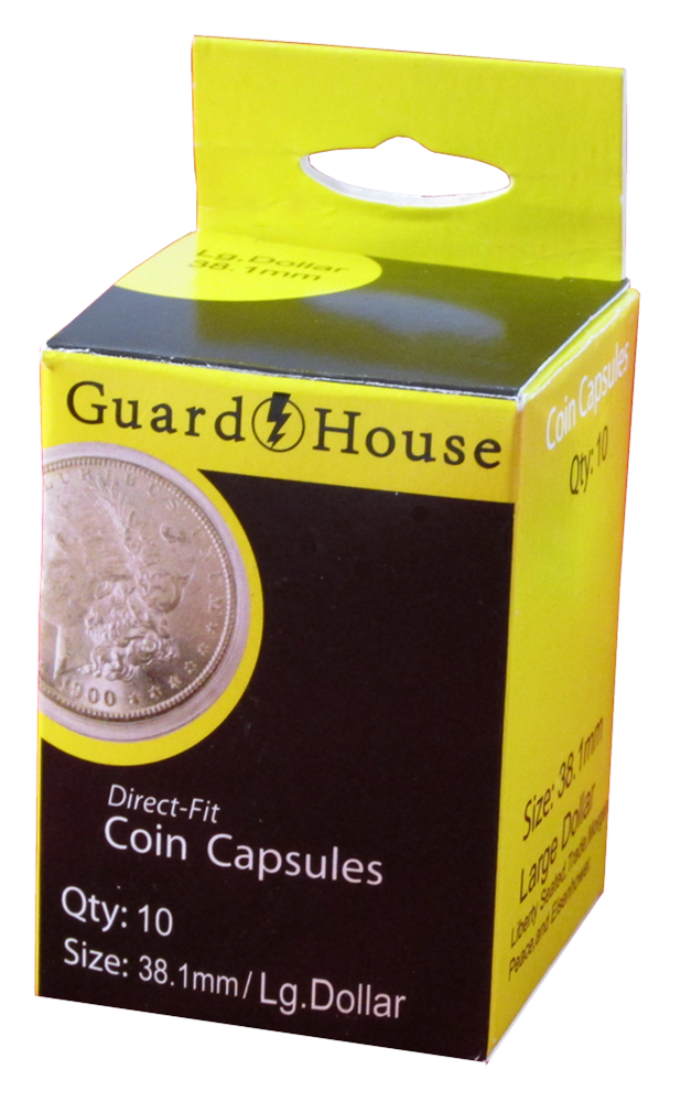 Guardhouse Large Dollar Coin Capsules - 10 Pack