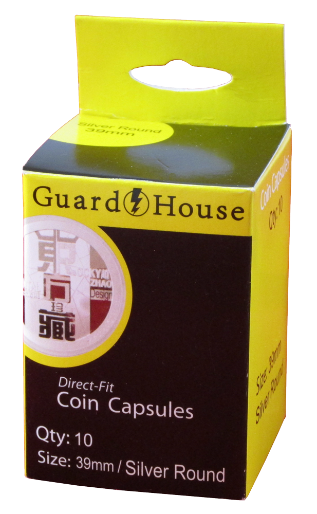 Guardhouse 1 oz Silver Round Coin Capsules - 10 Pack