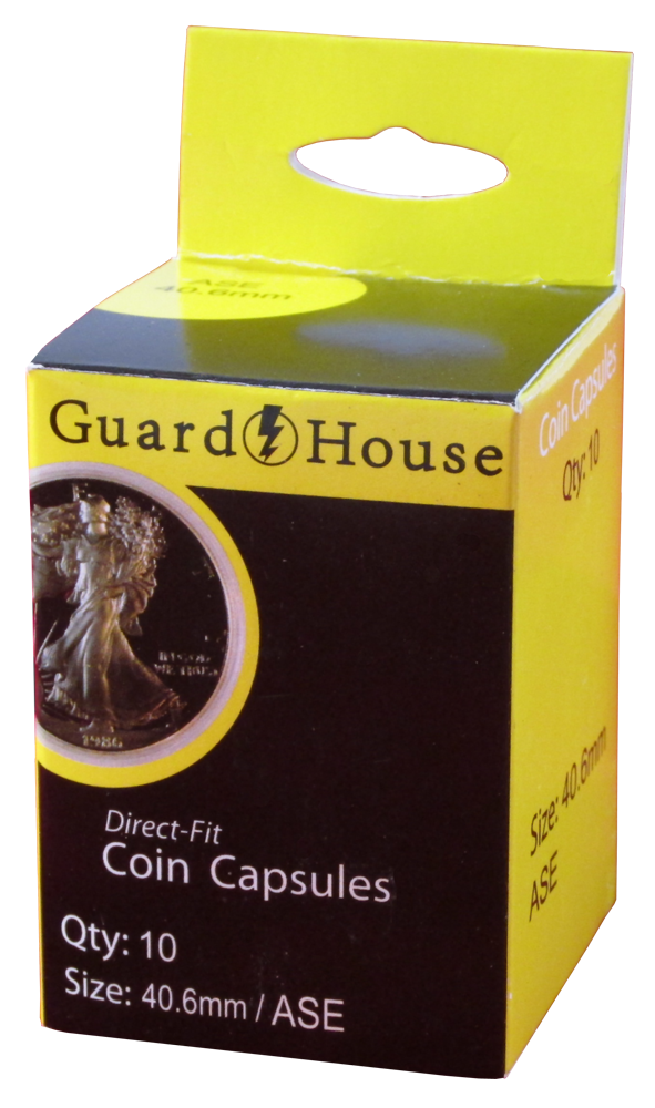 Guardhouse American Silver Eagle Coin Capsules - 10 Pack