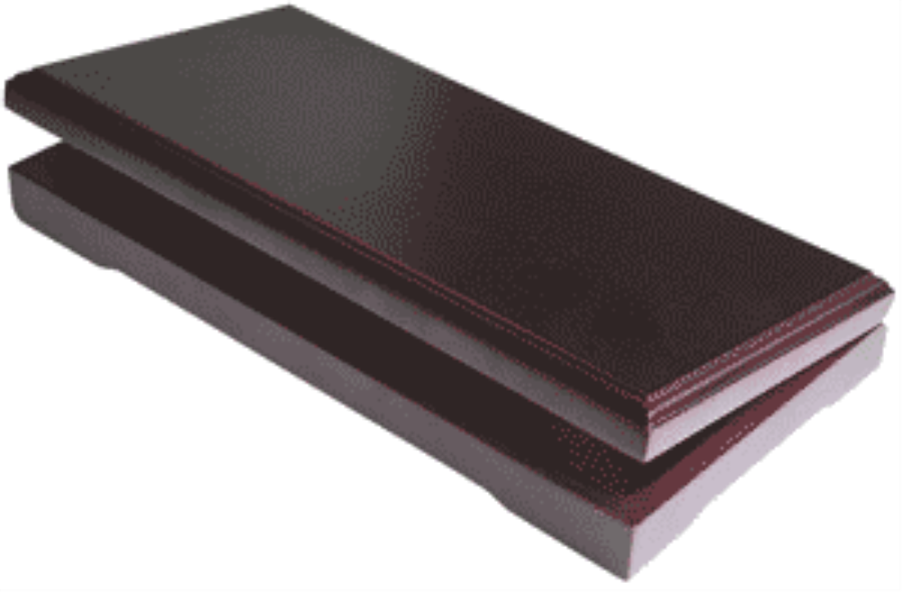 Solid Wood Top Coin Capsule Display Box ( 10 S ) - Dark Mahogany