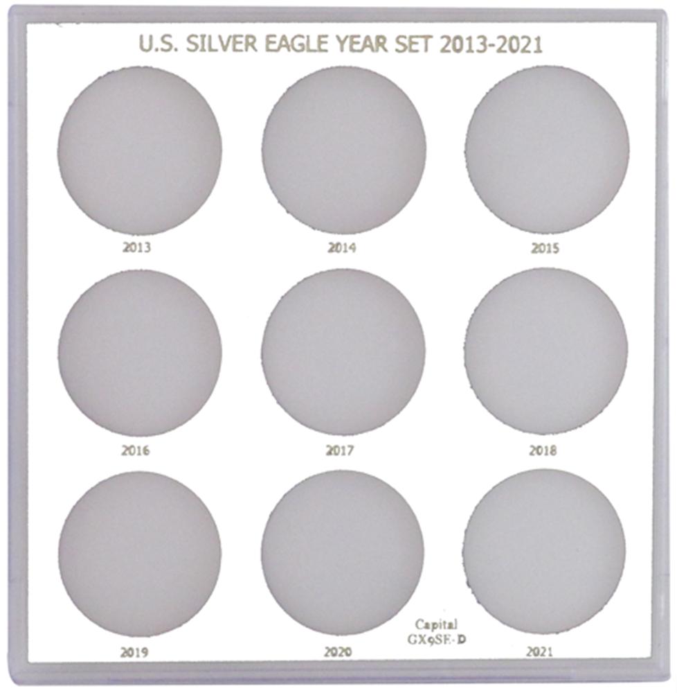 U.S. Silver Eagle Year Set 2013-2021 U.S. Silver Eagle Year Set 2013-2021, GX9SED