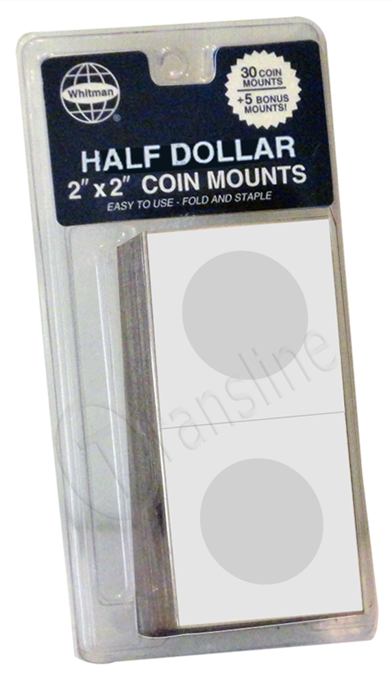 Whitman Paper Coin Mounts - Half Dollars Paper Coin Mounts - Half Dollars, 0794826849