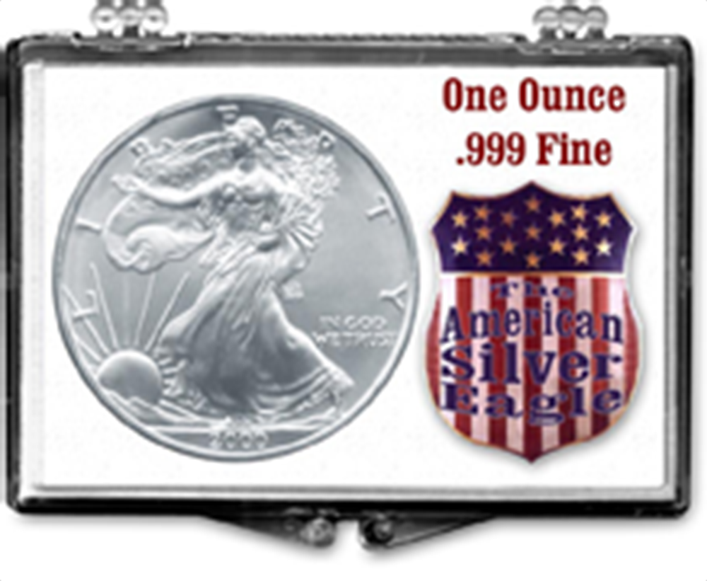 Union Shield- American Silver Eagle Union Shield- American Silver Eagle, SN208