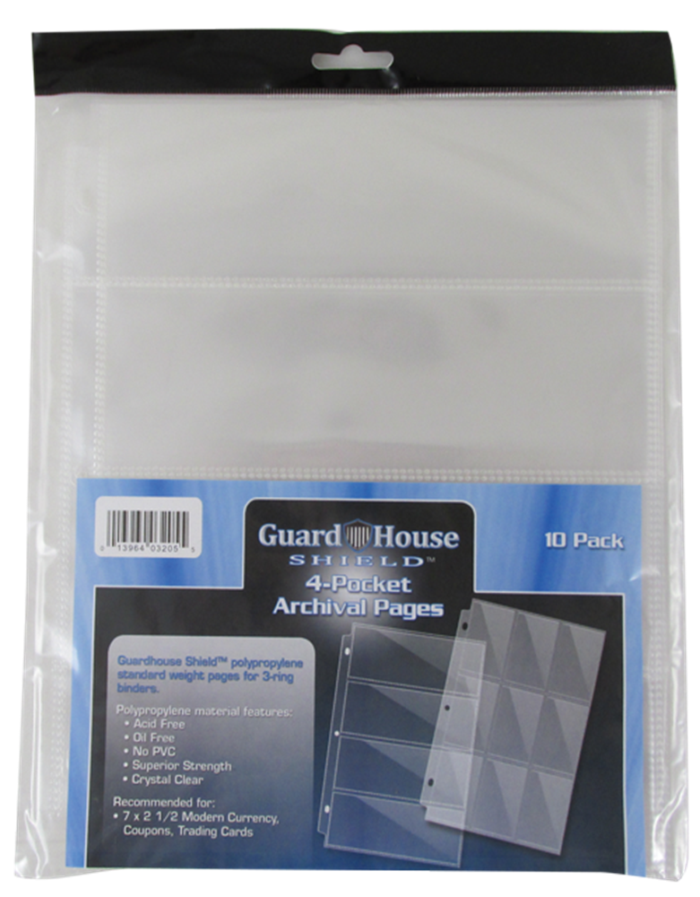 Guardhouse 4 PKT Archival Notebook Pages - 10 PK