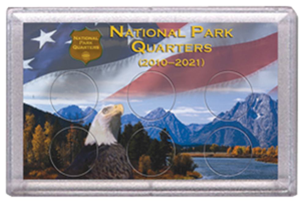 National Parks Flag and Eagle Design Frosty Case - 6 Hole National Parks Flag and Eagle Design Frosty Case - 6 Hole, 0794830528