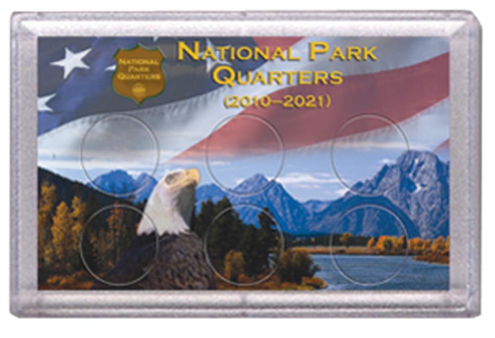 National Park Quarters Frosty Case ( 6 Quarter ) - Eagle w Mountains