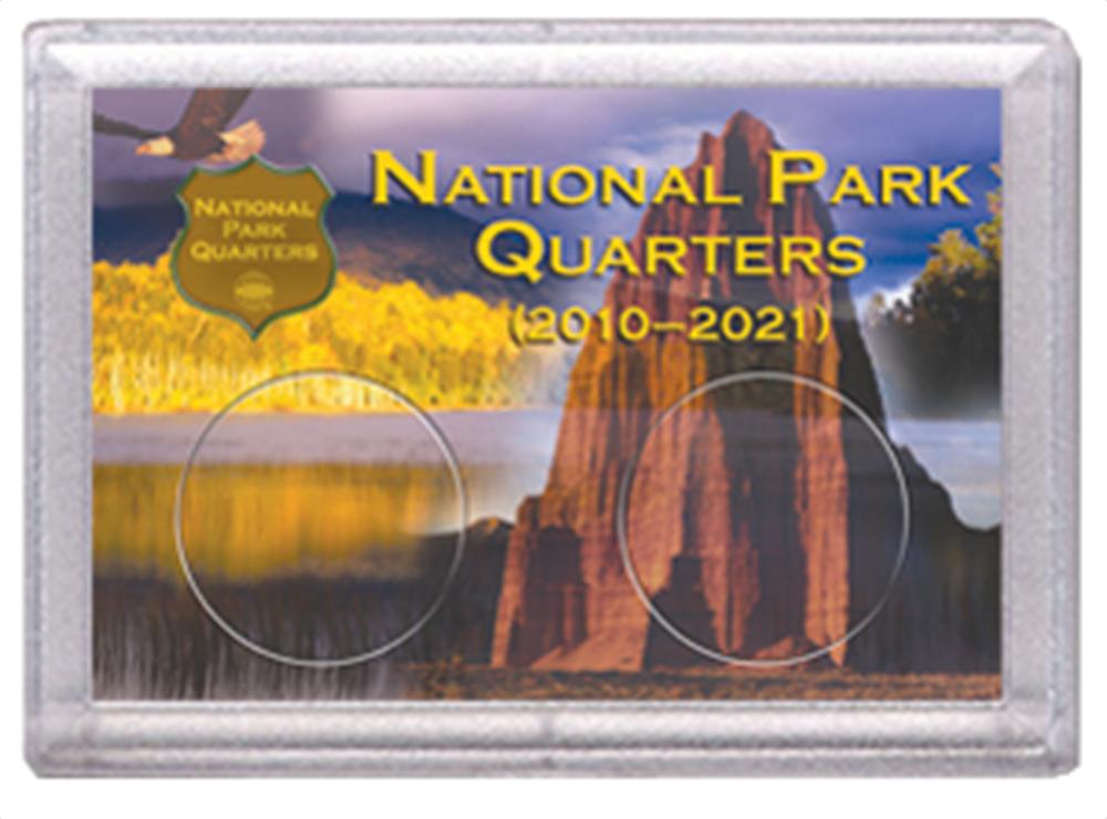 National Park Quarters Frosty Case ( 2 Quarter ) - Eagle w Rock