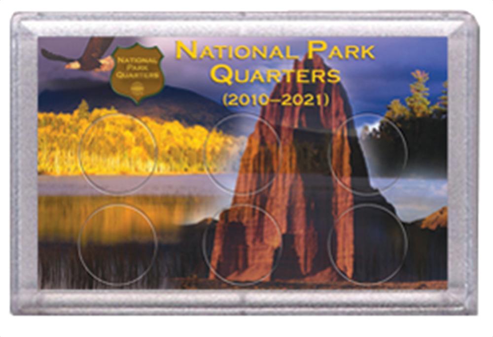 National Park Quarters Frosty Case ( 6 Quarter ) - Eagle w/ Rock
