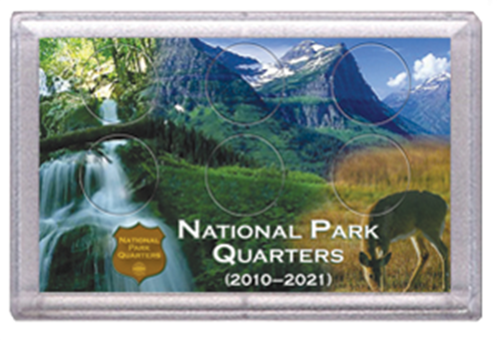 National Park Quarters Frosty Case ( 6 Quarter ) - Deer in Meadow