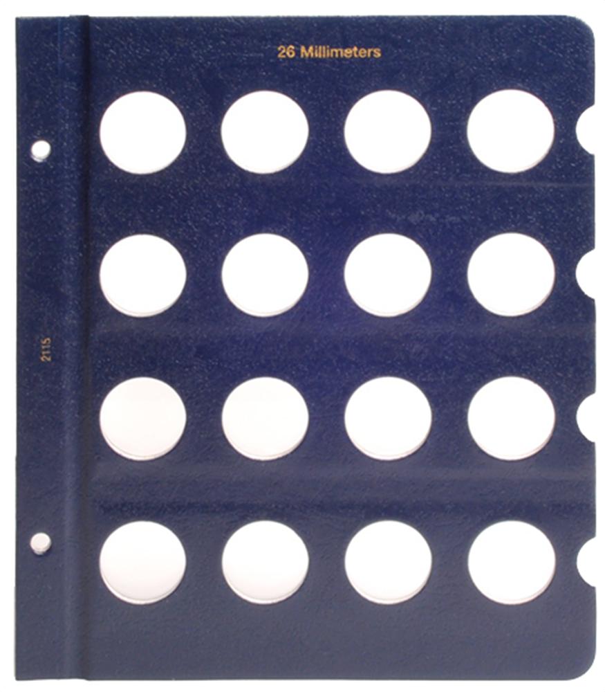 Whitman Blank Pages - 26mm Whitman, Blank Pages - 26mm, 0794821154