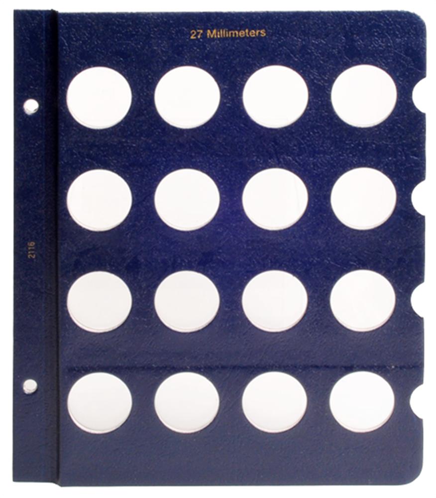 Whitman Blank Pages - 27mm Whitman, Blank Pages - 27mm, 0794821162