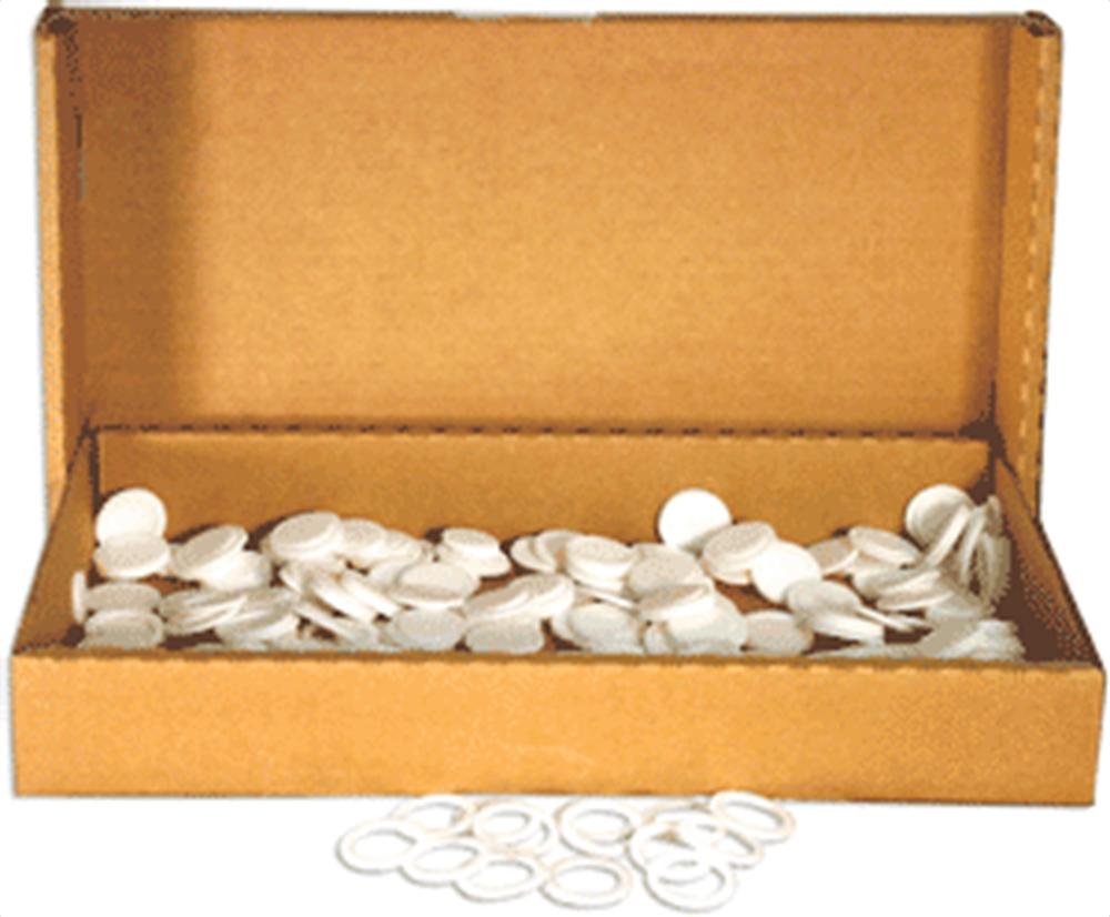 25mm Air Tite White Rings - Bulk Pack 250 25mm Rings - Bulk, Model T
