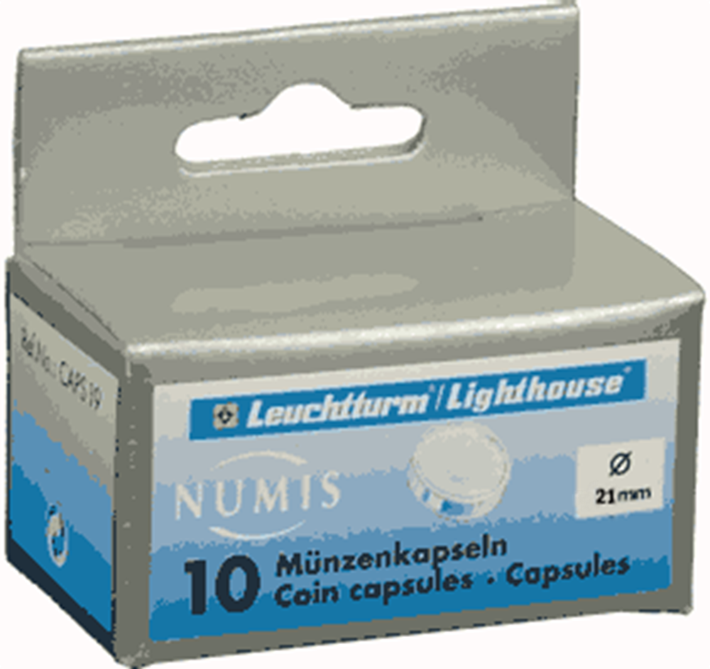 21mm - Coin Capsules (pack of 10) 21mm - Coin Capsules (pack of 10), CAPS21