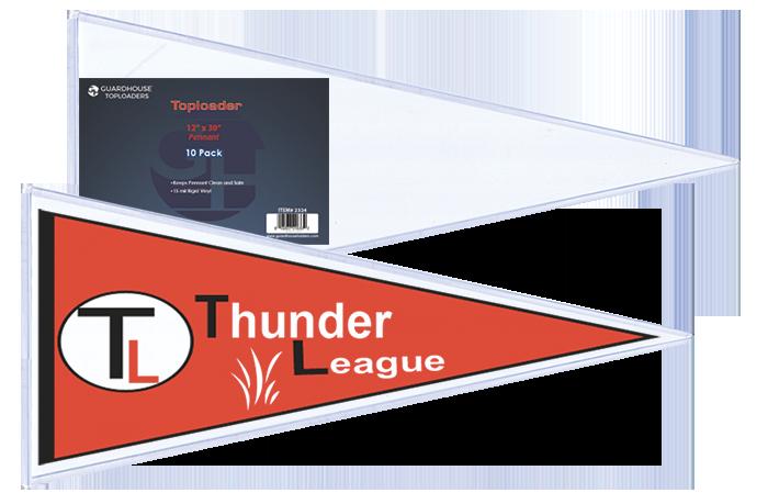 PENNANT Toploader - 12x30 Pennant toploader, Pennant sleeve, Pennant toploader sleeve, Pennant storage,