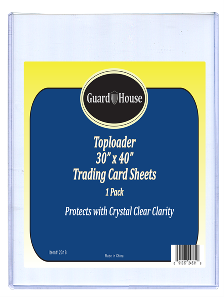 Trading Card Sheet Toploader - 30x40 Trading Card Sheet Toploader - 30x40, 835