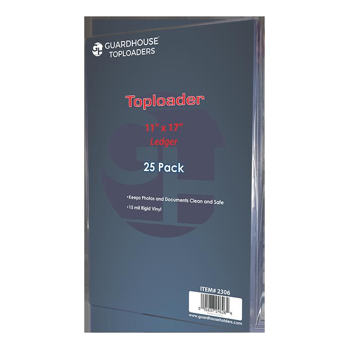 Ledger Size Toploader - 11x17 ledger toploader, ledger sleeve, ledger toploader sleeve, ledger storage,