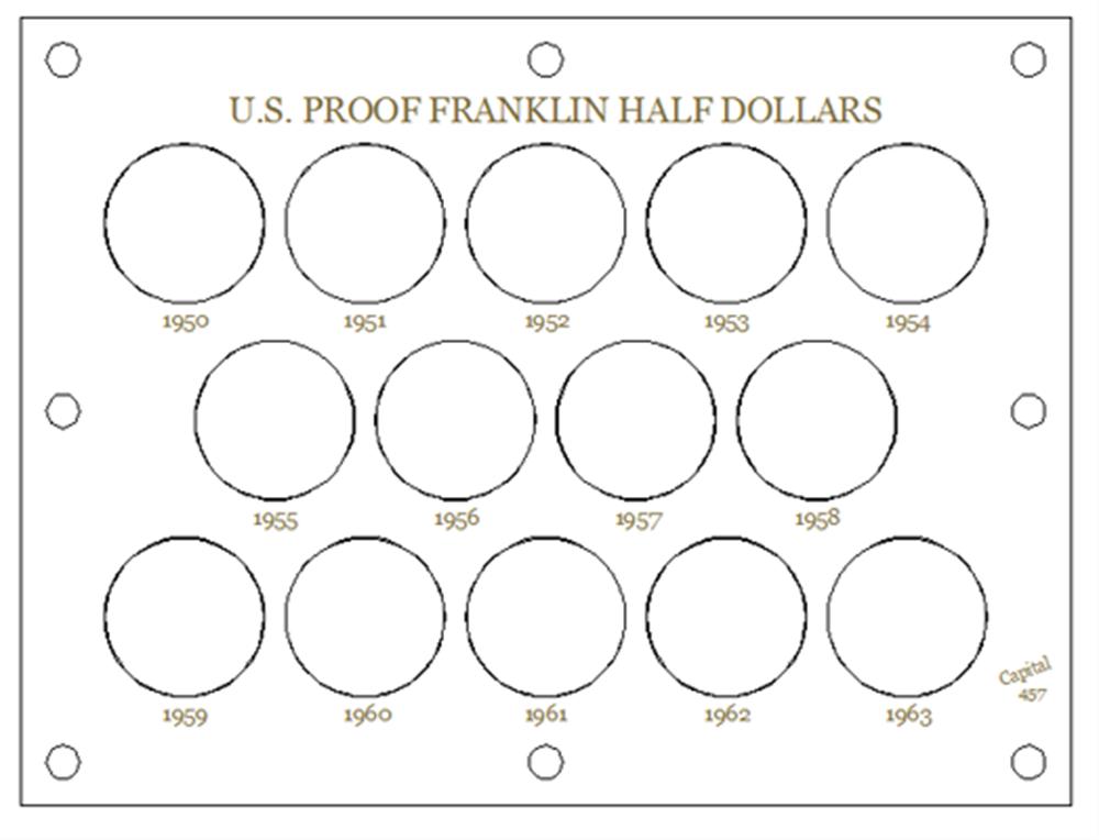 U.S. Proof Franklin Half Dollars U.S. Proof, Franklin Half Dollars, 457white