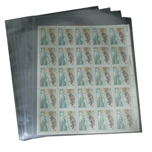 1 Pocket Mint Sheet Archival Polypropylene Pages, Clear
