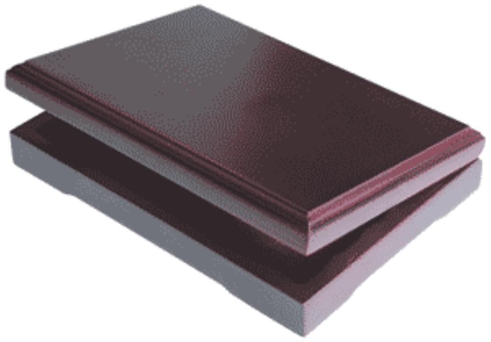 Solid Wood Top Coin Capsule Display Box ( 6 M ) - Dark Mahogany