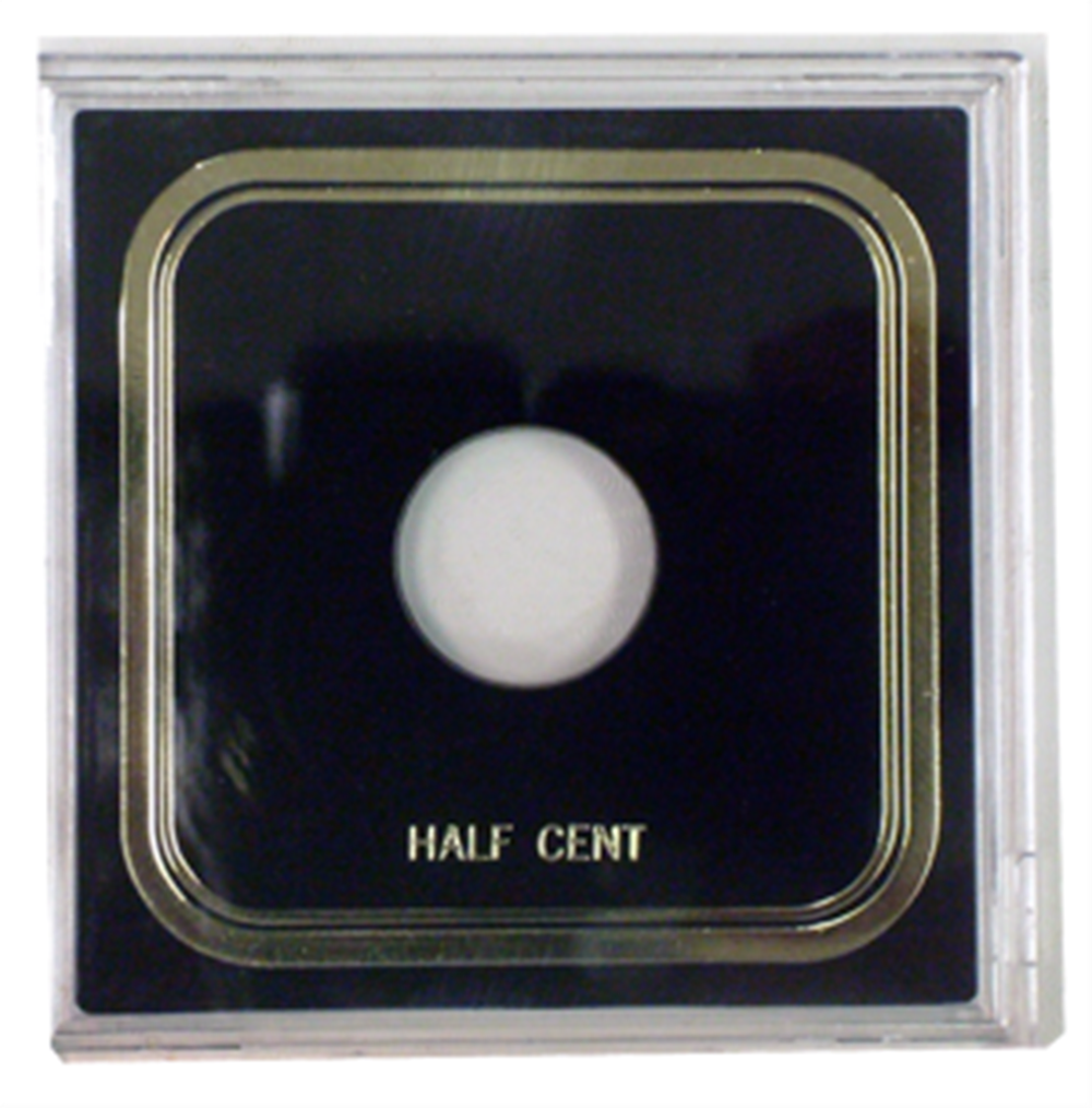 Half Cent Odd Type- Capital Plastics